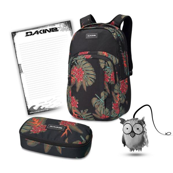 Dakine Campus L 33L + School Case XL + Emma + Block Schulset Jungle Palm