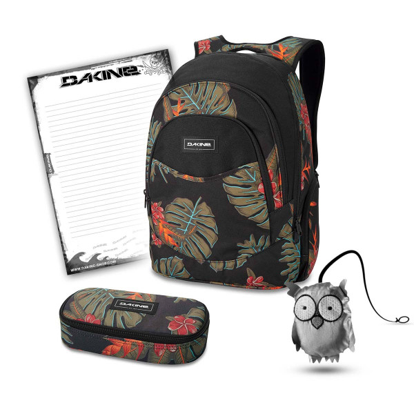 Dakine Prom 25L + School Case + Emma + Block Schulset Jungle Palm