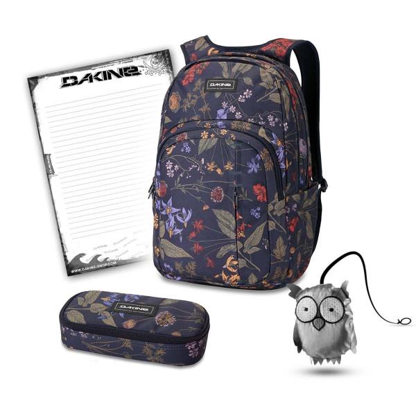 Dakine Campus Premium 28L + School Case + Emma + Block Schulset Botanics PET