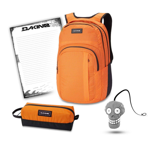 Dakine Campus L 33L + Accessory Case + Harry + Block Schulset Orange