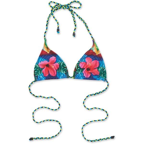 Dakine Kelli Braided Triangle Bikini Top Cha Cha Cha