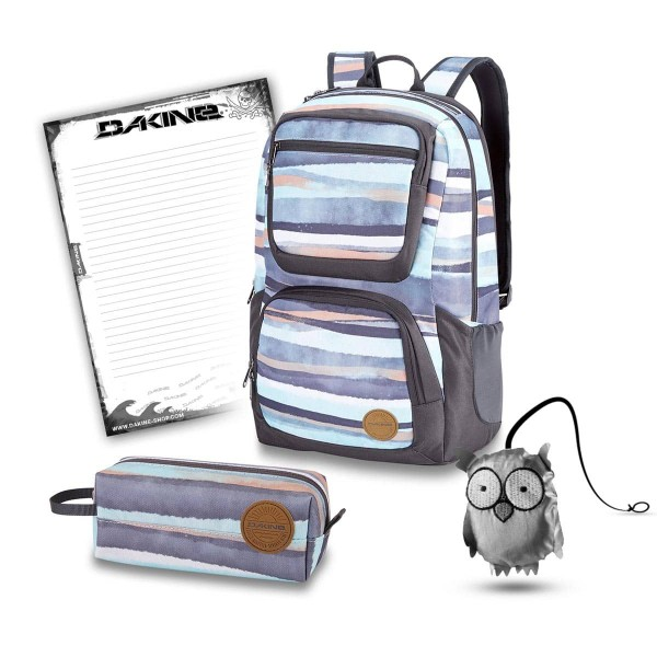 Dakine Jewel 26L + Accessory Case + Emma + Block Schulset Pastel Current