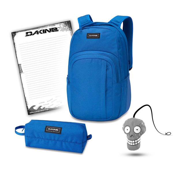 Dakine Campus L 33L + Accessory Case + Harry + Block Schulset Cobalt Blue