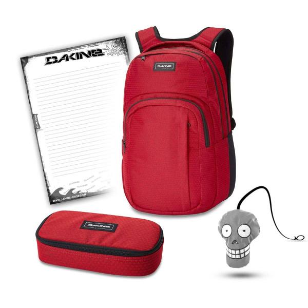 Dakine Campus L 33L + School Case XL + Harry + Block Schulset Crimson Red