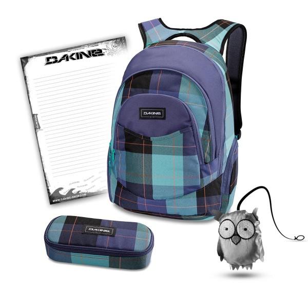 Dakine Prom 25L + School Case + Emma + Block Schulset Aquamarine