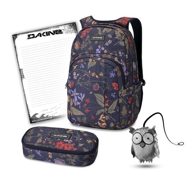 Dakine Campus Premium 28L + School Case XL + Emma + Block Schulset Botanics PET
