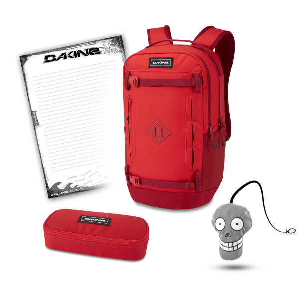 Dakine URBN Mission Pack 23L + School Case + Harry + Block Schulset Deep Crimson