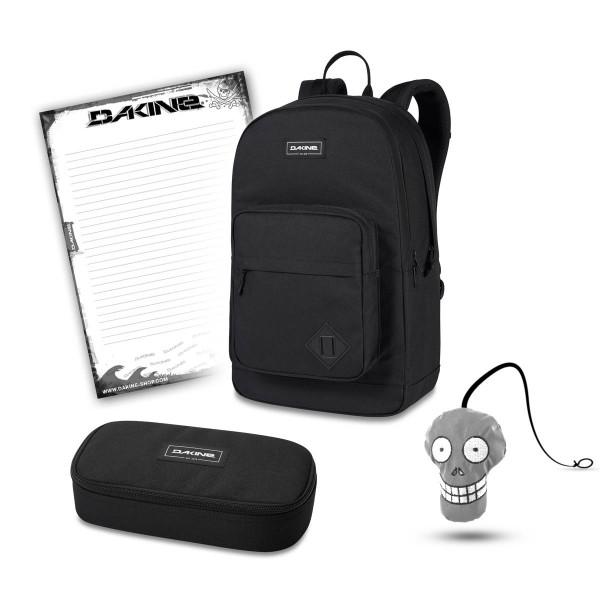 Dakine 365 Pack DLX 27L + School Case XL + Harry + Block Schulset Black