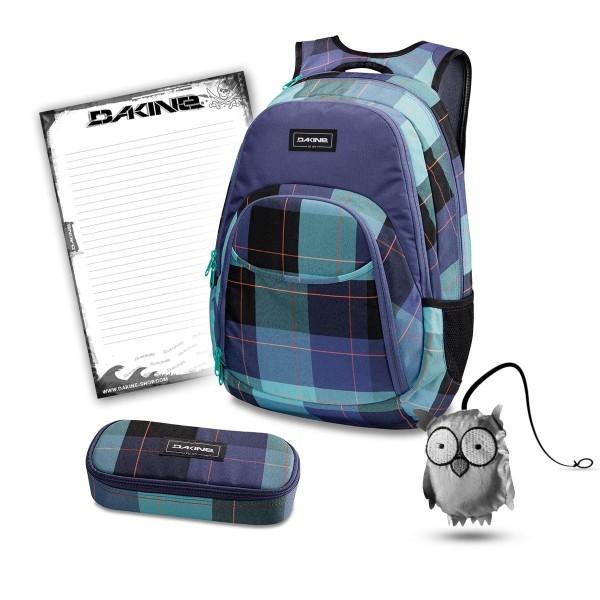 Dakine Eve 28L + School Case + Emma + Block Schulset Aquamarine