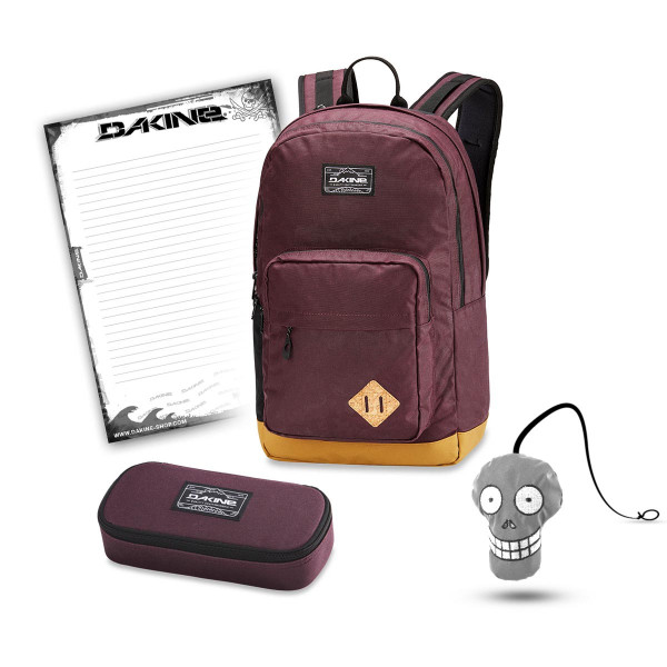 Dakine 365 Pack DLX 27L + School Case + Harry Block Schulset Plum Shadow