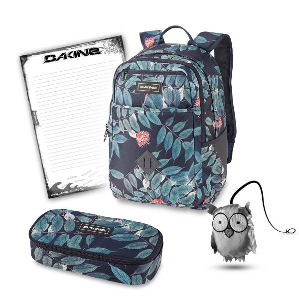 Dakine Essentials Pack 26L + School Case XL + Emma + Block Schulset Eucalyptus Floral