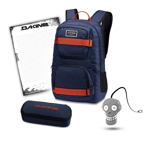 Dakine Duel 26L + School Case + Harry + Block Schulset Dark Navy