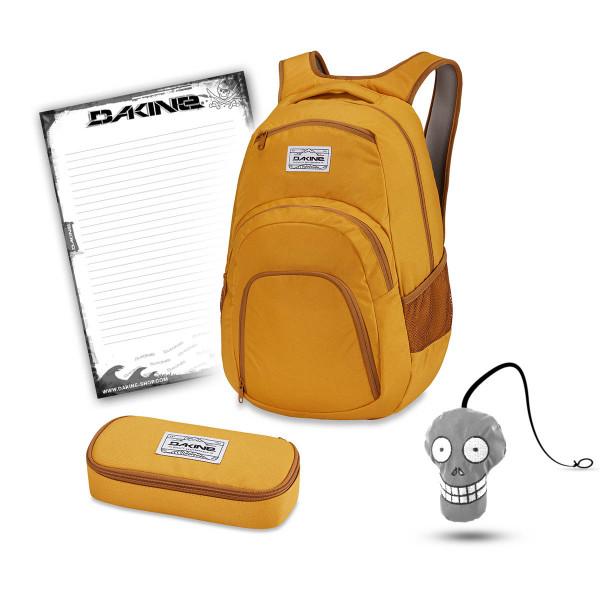 Dakine Campus 33L + School Case + Harry Block Schulset Mineral Yellow