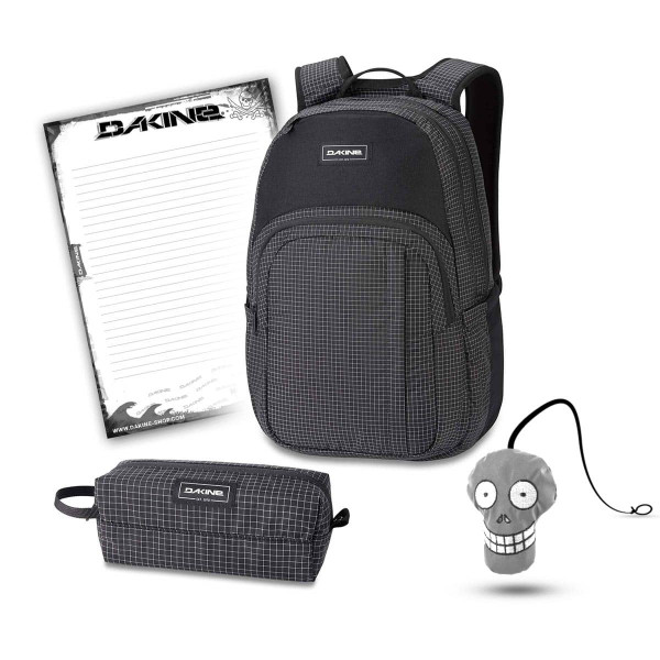Dakine Campus M 25L + Accessory Case + Harry + Block Schulset Rincon