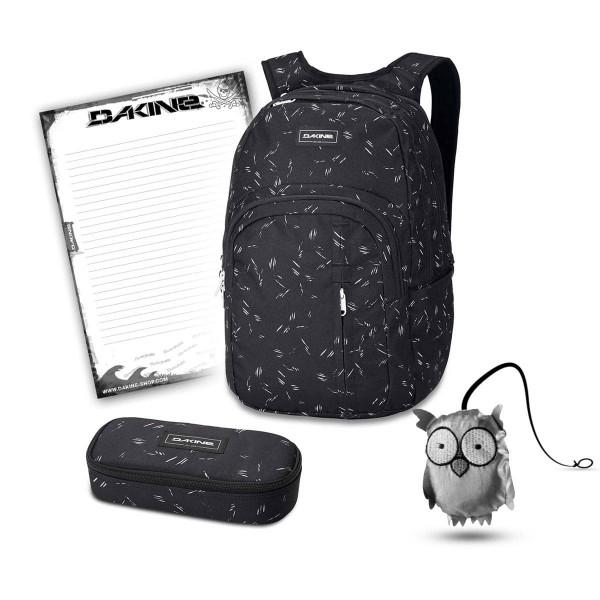 Dakine Campus Premium 28L + School Case + Emma + Block Schulset Slash Dot