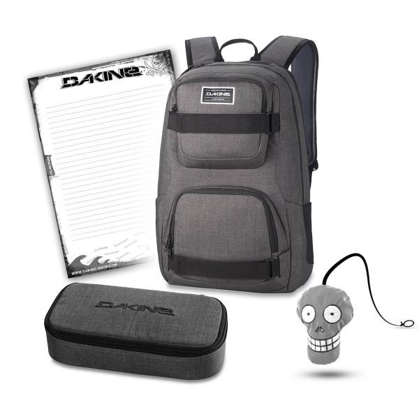 Dakine Duel 26L + School Case XL + Harry + Block Schulset Carbon