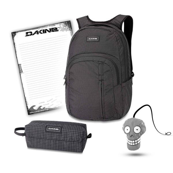 Dakine Campus Premium 28L + Accessory Case + Harry + Block Schulset Rincon