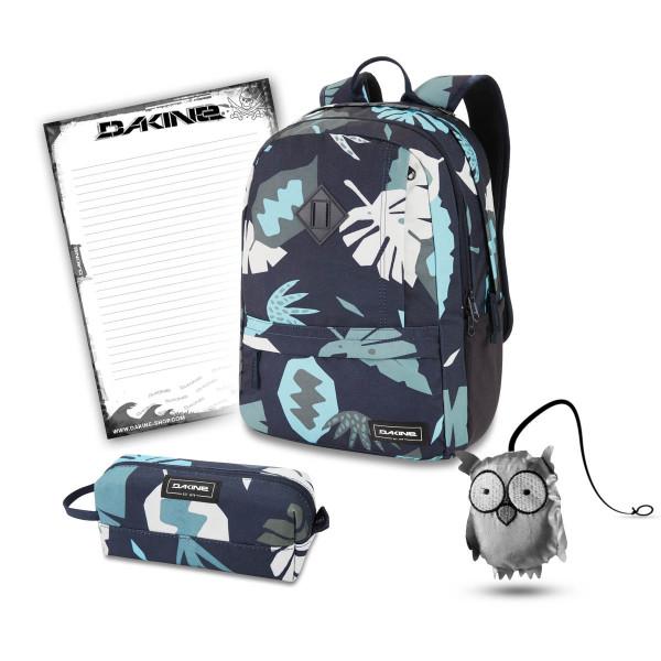 Dakine Essentials Pack 22L + Accessory Case + Emma + Block Schulset Abstract Palm
