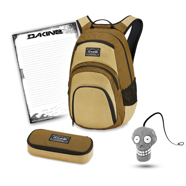 Dakine Campus 25L + School Case + Harry Block Schulset Tamarindo