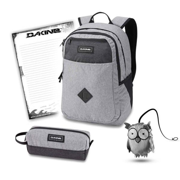 Dakine Essentials Pack 26L + Accessory Case + Emma + Block Schulset Greyscale