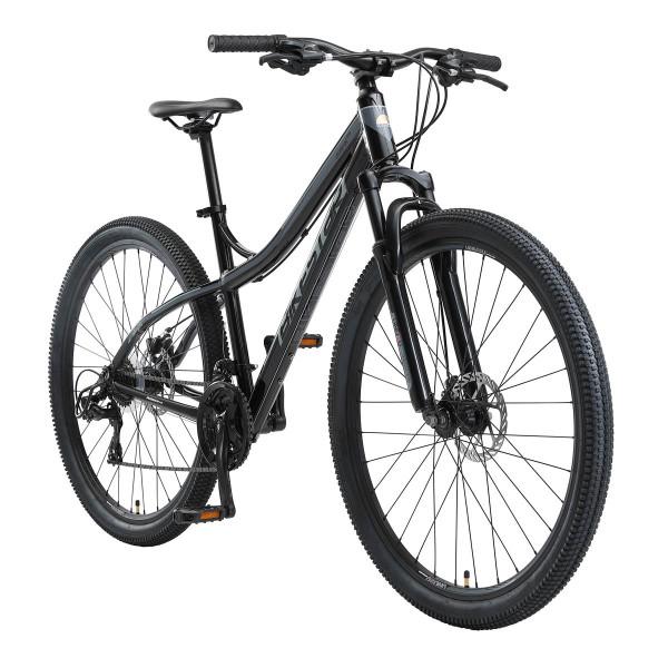 BIKESTAR Mountainbike Shimano, 21 Gang, Scheibenbremse, 18 Zoll Rahmen, Schwarz/Grau