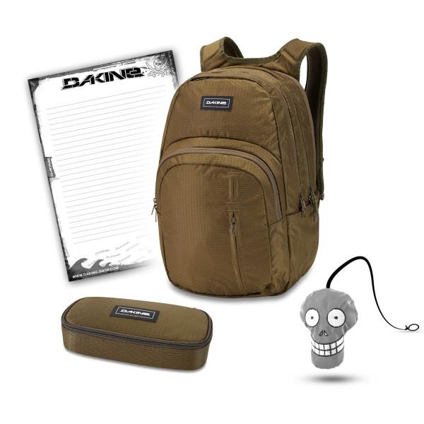 Dakine Campus Premium 28L + School Case + Harry + Block Schulset Dark Olive Dobby