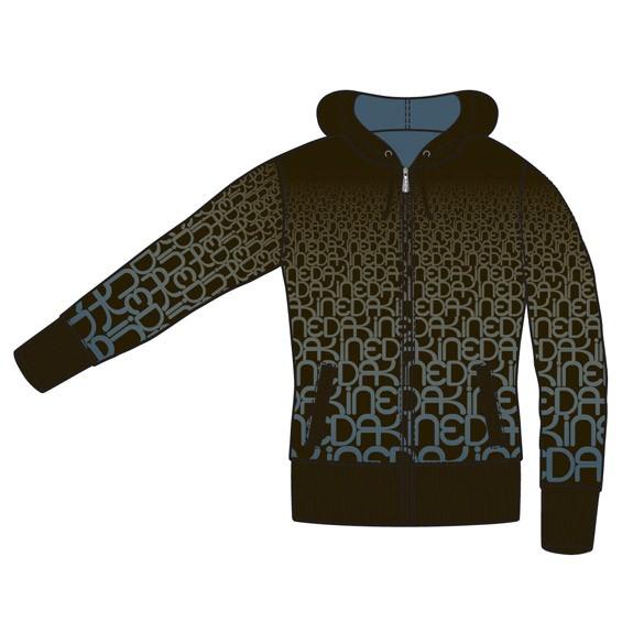 Womens Fade Hoodie Sweatshirt / Pullover Black Größe S