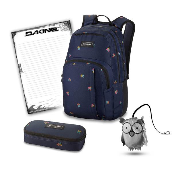 Dakine Campus M 25L + School Case + Emma + Block Schulset Mini Tropical