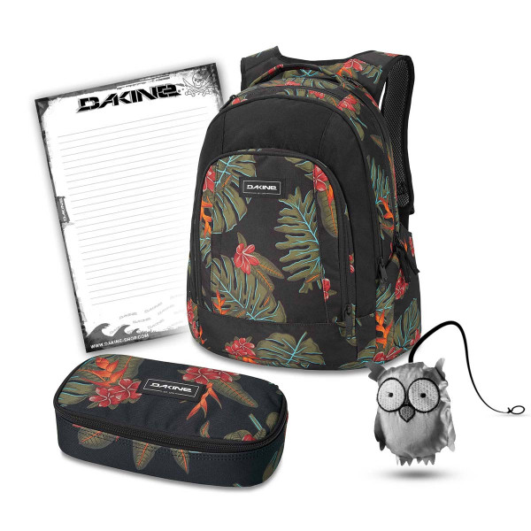 Dakine Frankie 26L + School Case XL + Emma + Block Schulset Jungle Palm