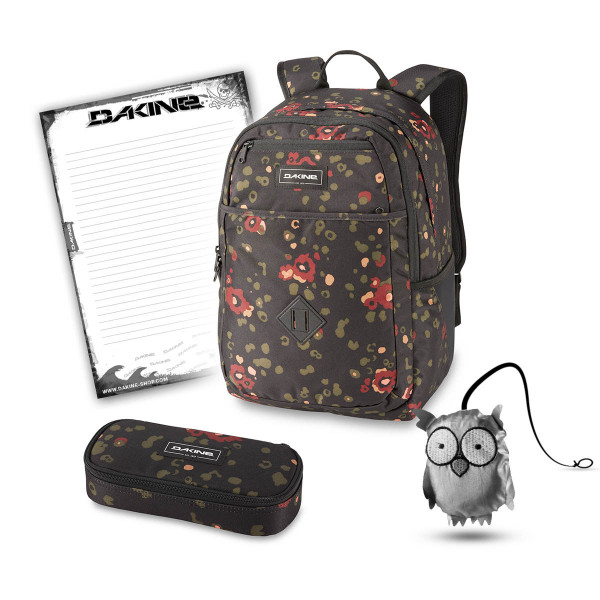 Dakine Essentials Pack 26L + School Case + Emma + Block Schulset Begonia