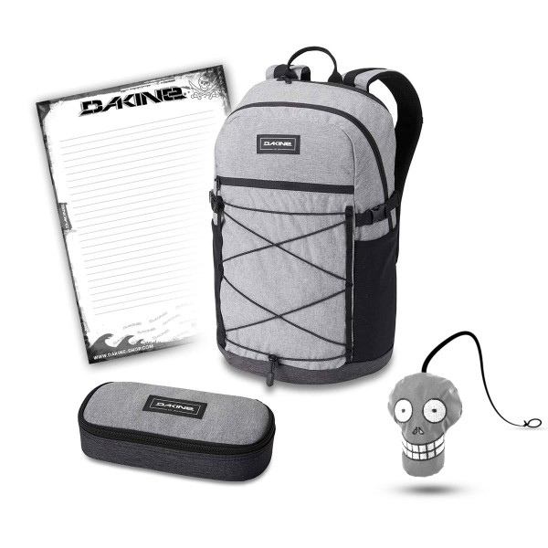 Dakine WNDR Pack 25L + School Case + Harry + Block Schulset Greyscale
