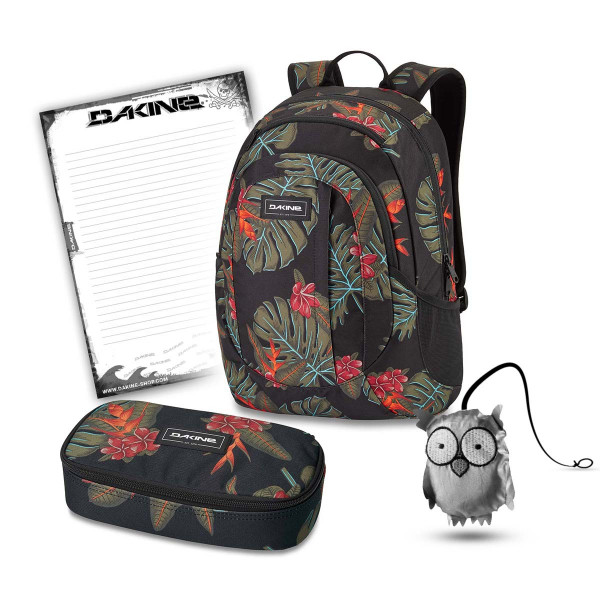Dakine Garden 20L + School Case XL + Emma + Block Schulset Jungle Palm