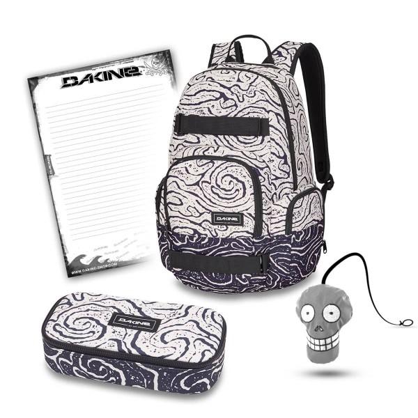 Dakine Atlas 25L + School Case XL + Harry + Block Schulset Lava Tubes