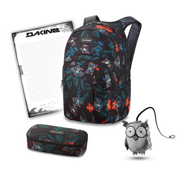 Dakine Campus Premium 28L + School Case + Emma + Block Schulset Twilight Floral