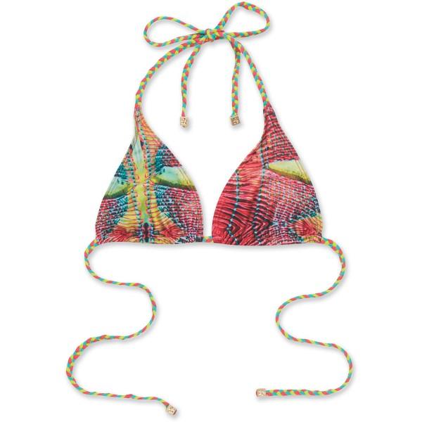 Dakine Kelli Braided Triangle Bikini Top Guava Margarita