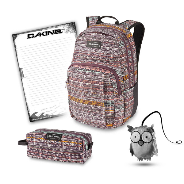 Dakine Campus M 25L + Accessory Case + Emma + Block Schulset Multi Quest