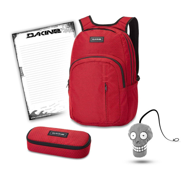Dakine Campus Premium 28L + School Case + Harry + Block Schulset Crimson Red