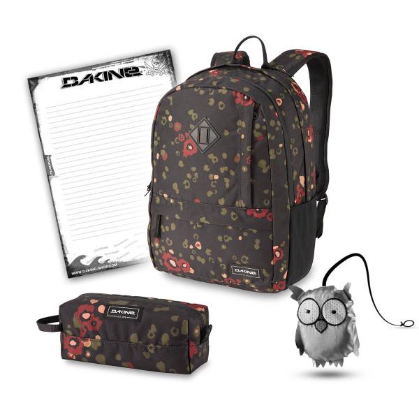Dakine Essentials Pack 22L + Accessory Case + Emma + Block Schulset Begonia