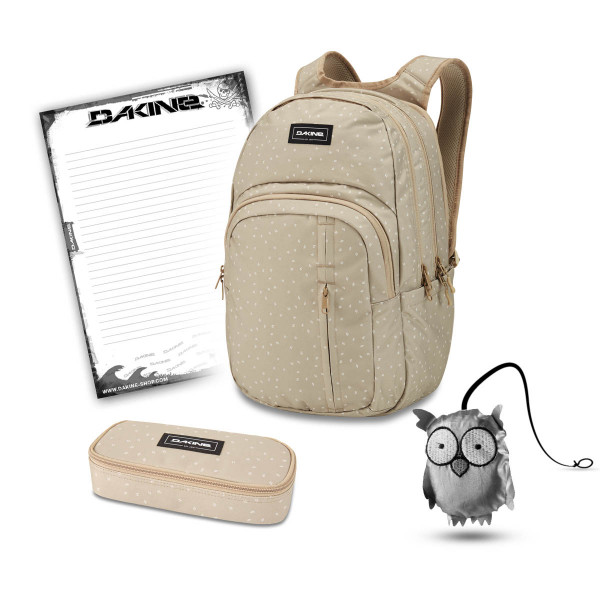 Dakine Campus Premium 28L + School Case + Emma + Block Schulset Mini Dash Barley