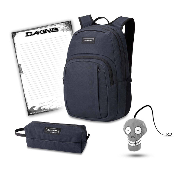 Dakine Campus M 25L + Accessory Case + Harry + Block Schulset Night Sky