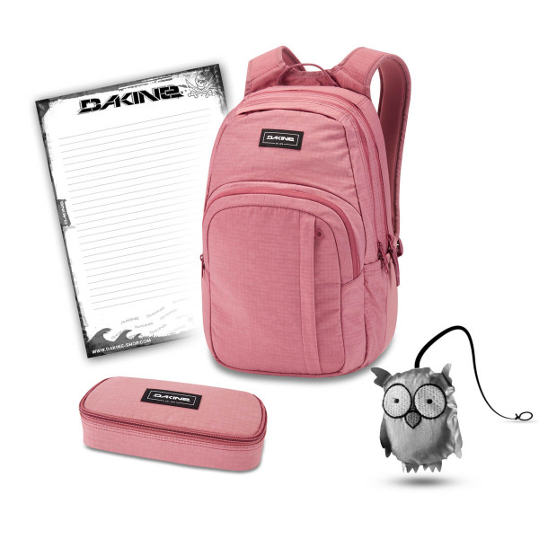 Dakine Campus M 25L + School Case + Emma + Block Schulset Faded Grape