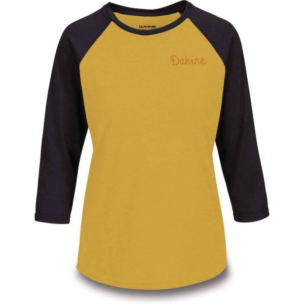 Dakine Womens 3/4 Raglan Tech T Damen Funktionsshirt Golden Glow