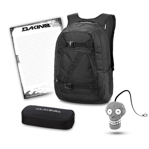 Dakine Explorer 26L + School Case + Harry + Block Schulset Black