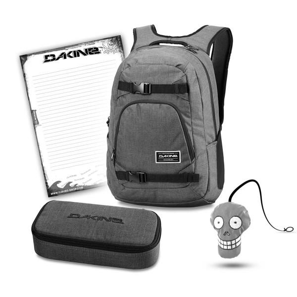Dakine Explorer 26L + School Case XL + Harry + Block Schulset Carbon
