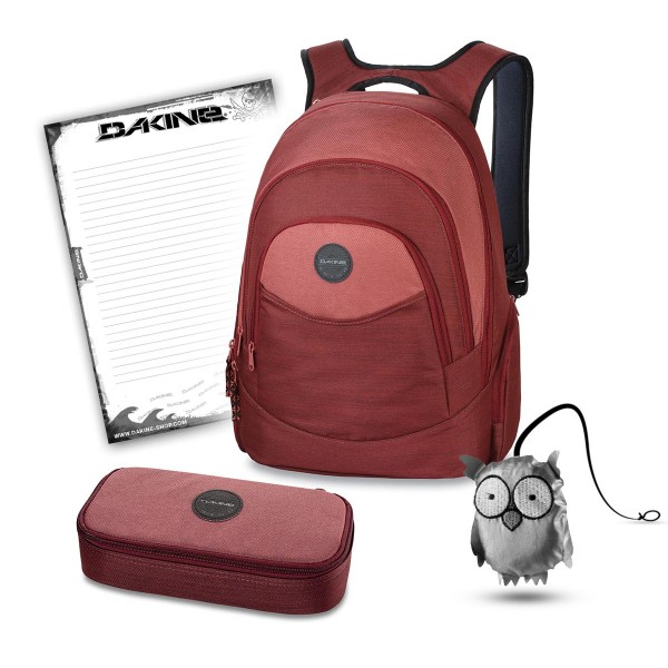 Dakine Prom 25L + School Case XL + Emma + Block Schulset Burnt Rose