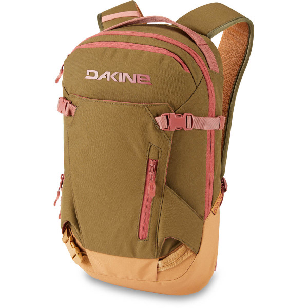 Dakine Womens Heli Pack 12L Ski- / Snowboard Rucksack Dark Olive / Caramel