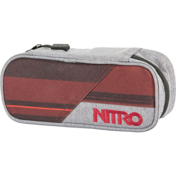 Nitro Pencil Case Federmäppchen Red Stripes