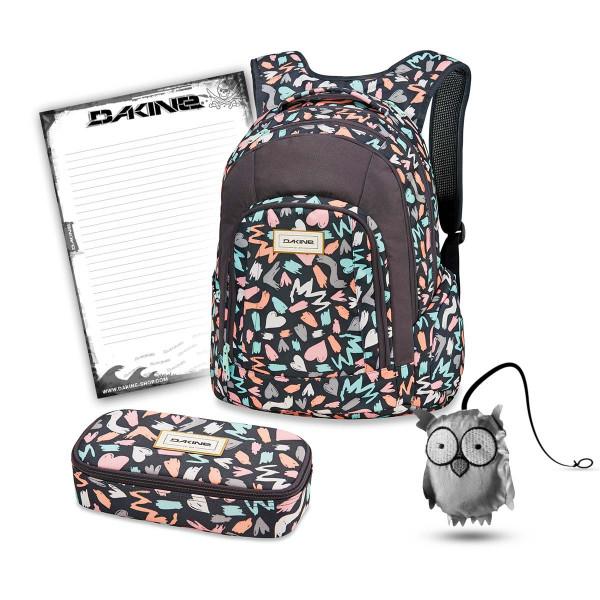 Dakine Frankie 26L + School Case XL + Emma + Block Schulset Beverly