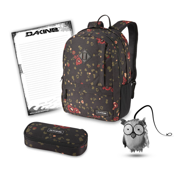 Dakine Essentials Pack 22L + School Case + Emma + Block Schulset Begonia