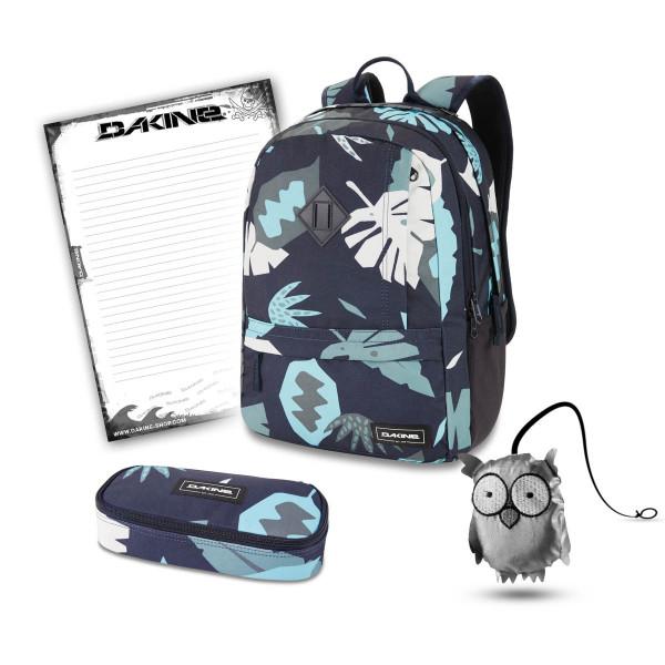 Dakine Essentials Pack 22L + School Case + Emma + Block Schulset Abstract Palm